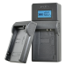Jupio caricabatteria USB dedicato per Canon batterie 7.2V-8.4V