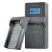 Jupio caricabatteria USB per Fuji/Olympus/Nikon batterie 7.2V-8.4V